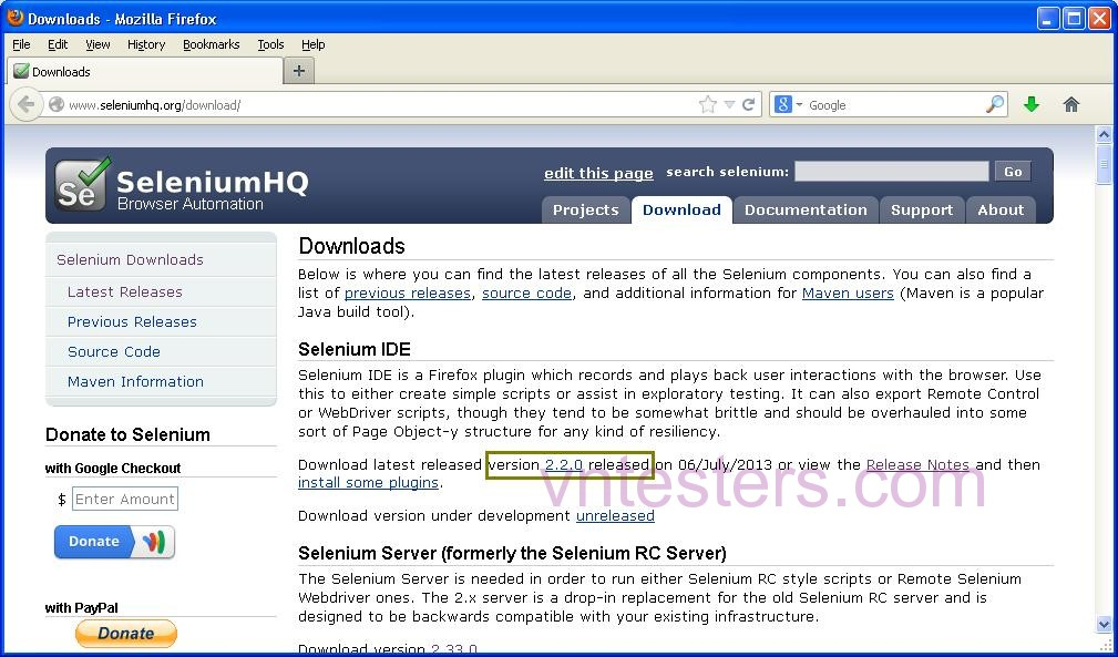 download selenium IDE