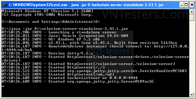 Kiem Tra Selenium Server