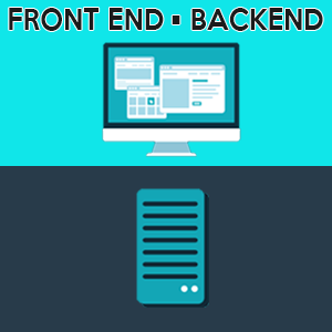 Illustrate front-end vs back-end by kitchensinkwp.com