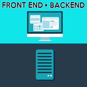 Illustrate front-end vs back-end by kitchensinkwp.com
